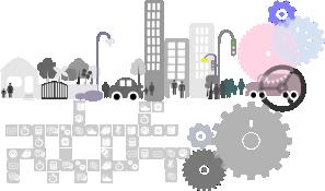 Image smart cities gray